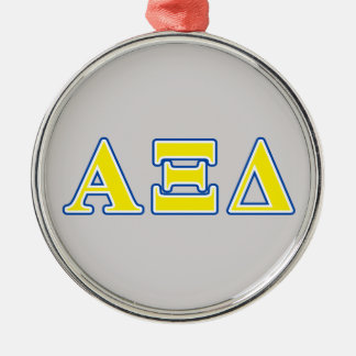 Alpha Xi Delta Yellow and Blue Letters Christmas Ornament