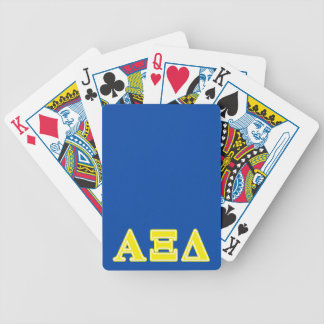 Alpha Xi Delta Yellow Letters Bicycle Playing Cards