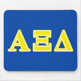 Alpha Xi Delta Yellow Letters Mouse Pad