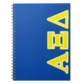 Alpha Xi Delta Yellow Letters Notebook