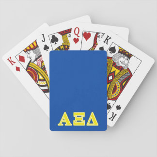 Alpha Xi Delta Yellow Letters Playing Cards