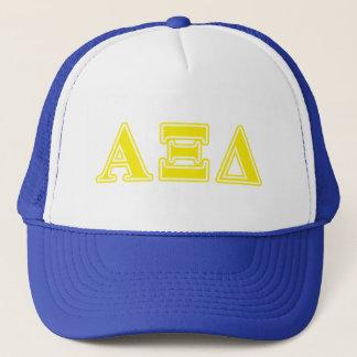 Alpha Xi Delta Yellow Letters Trucker Hat
