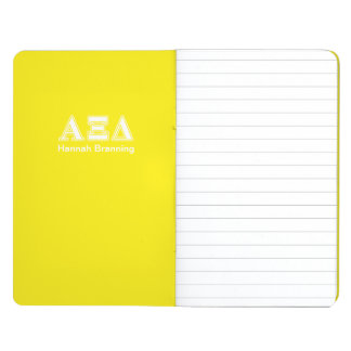 Alpha Xi Detla White and Yellow Letters Journal