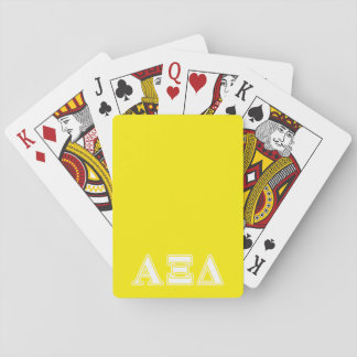 Alpha Xi Detla White and Yellow Letters Playing Cards