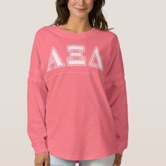 Alpha Xi Detla White and Yellow Letters Spirit Jersey