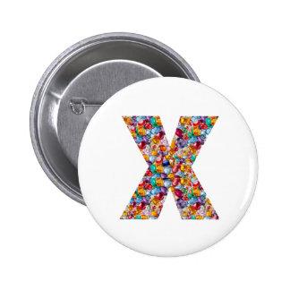 Alpha xxx ooo ttt lll GIFTS Jewel Fashion x o t l 6 Cm Round Badge