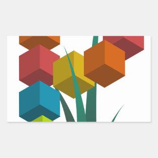 alphabep rectangular sticker