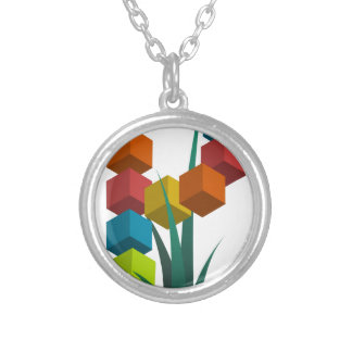 alphabep silver plated necklace