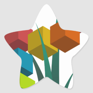 alphabep star sticker