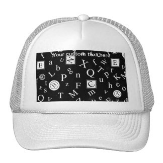 Alphabet ABC Mesh Hat