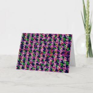 b07c441af Alphabet alpha art colourful COLORFUL fashion gift Card