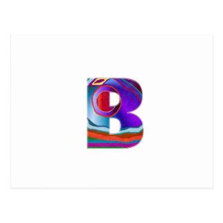 Alphabet ALPHA BBB Postcard