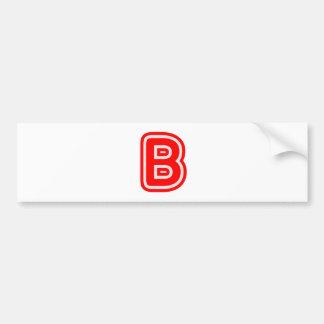 Alphabet ALPHAB BBB Car Bumper Sticker