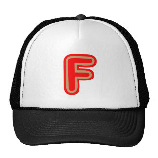 Alphabet ALPHAF FFF Trucker Hats