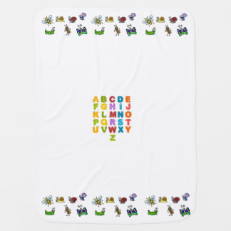 Alphabet and Garden Insects Baby Blanket