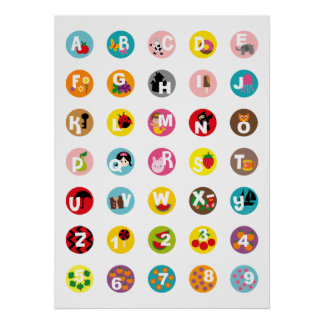 Alphabet and Numbers Poster