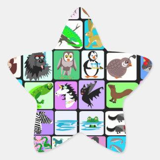 alphabet animals 3 star sticker