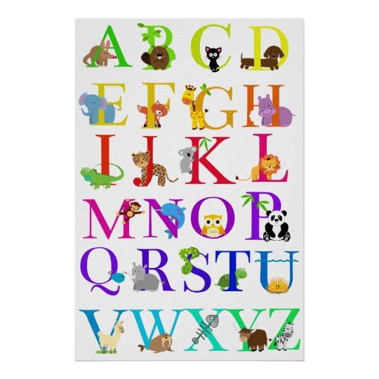 Alphabet Animals Poster