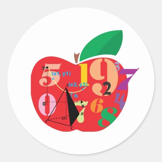 Alphabet Apple Classic Round Sticker
