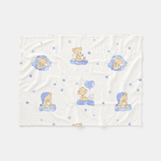 Alphabet Bear Fleece Blanket