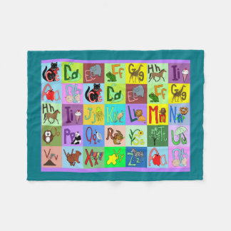 Alphabet Blocks baby blanket