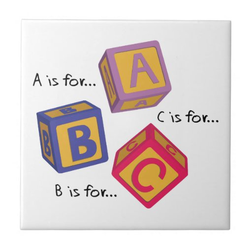 Alphabet Blocks Tile