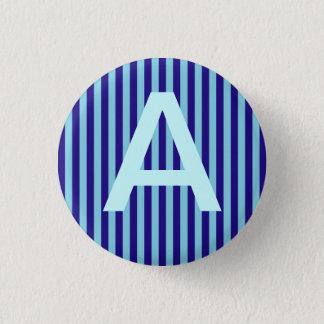 Alphabet Blue Lines Cap Button