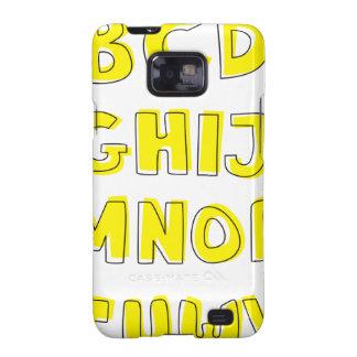 Alphabet Samsung Galaxy S2 Case