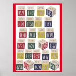 Alphabet Chart Extra Large Coloured Blocks