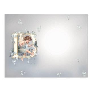 Alphabet Cherub Postcard