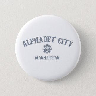 Alphabet City 6 Cm Round Badge