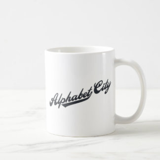 Alphabet City Basic White Mug
