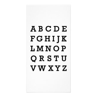 Alphabet Customized Photo Card