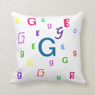 Alphabet Decorative Letter Pillow G