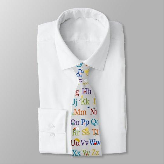 Alphabet Design Tie