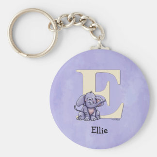 Alphabet Elephant Key Ring