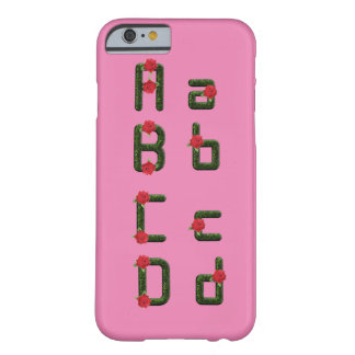 Alphabet Font Floral Rose iPhone6 Barely There Barely There iPhone 6 Case