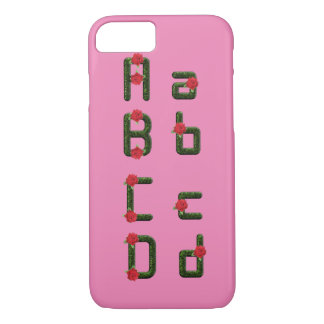 Alphabet Font Floral Rose iPhone 7 Barely There iPhone 7 Case