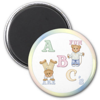 Alphabet Fun Teddy Bears Fridge Magnet