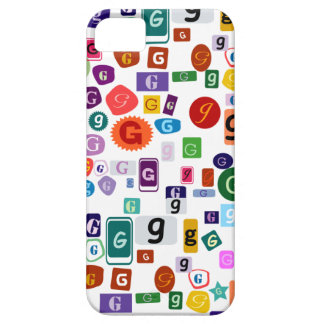 Alphabet G (White Background) iPhone 5 Case