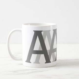 Alphabet Gifting Grey Letters Monogrammed Mug