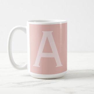 Alphabet Gifting Large Blush Pink Monogrammed Mug