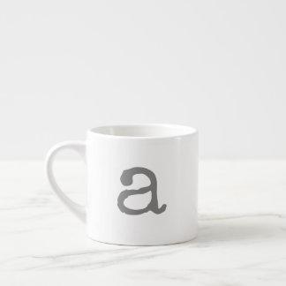 Alphabet Gifting Small Monogram Espresso Mug