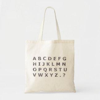 Alphabet Hammered Chrome Capitals Budget Tote Bag