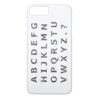 Alphabet Hammered Chrome Capitals iPhone 7 Plus Case