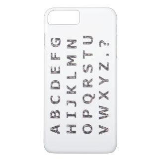 Alphabet Hammered Chrome Capitals iPhone 7 Plus Case