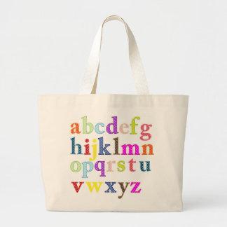 Alphabet Jumbo Tote Bag