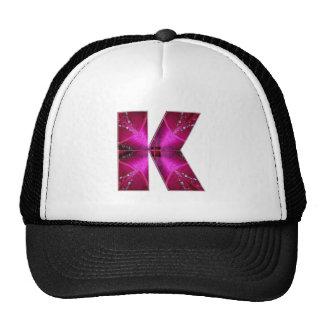 Alphabet  K KAY  :  Sparkle Theme Hat