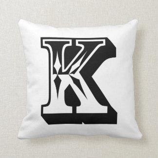 "Alphabet ""K"" Letter ABC Cushion"