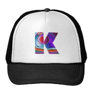ALPHABET Kay : ID Identity initial name decorative Hats